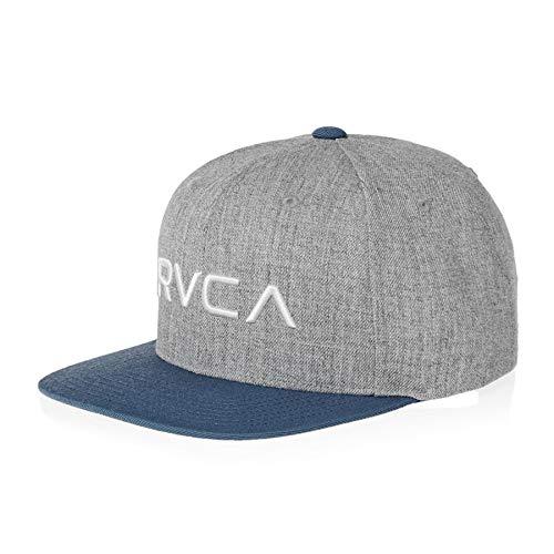 RVCA Twill III Snapback Cap - Grey/Blue Twill-kappe
