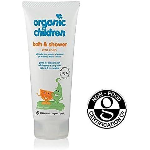 Persone Verdi Bambini Organici Bagno Di Agrumi E Di Aloe Vera E Gel Doccia Da 200 Ml - Confezione da 2
