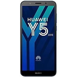 Huawei Y5 2018 Smartphone Débloqué 4G (5,45 pouces - 2/16 Go - Double Nano-SIM - Android) Bleu