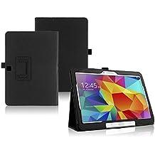 Funda Caso para Samsung GALAXY Tab 4 10.1 Pulgadas SM-T530 T531 T533 T535 Smart Cover Slim Case Stand Flip Película (Negro) NUEVO