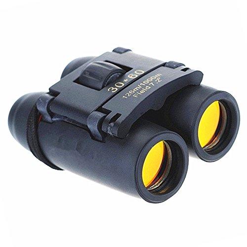 Qiorange Binoculars Fernglas Mini Teleskop 30 x 60 Zoom Fernglas außen Reisen zusammenklappbar, 126 m/1000 m, Band für Golf, Camping, Trekking, Angeln, Stellungnahmen von Vögeln, Konzerte