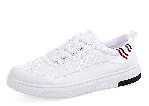 NobS Scarpe Donna Pattini Degli Appartamenti Scarpe Casual Scarpe Di Tela Scarpe Bianche Piccolo White