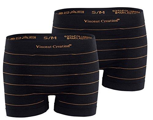 "2er Pack Herren Boxershorts "" Stripes"" Microfaser Retroshorts Orange/Orange"