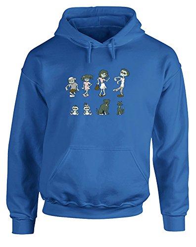 Zombie Family, Gedruckt Hoody - Pullover - Königsblau/Transfer 2XL = 127-132cm