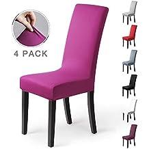 Fundas para sillas Pack de 4 Fundas sillas Comedor Fundas elásticas, Cubiertas para sillas,