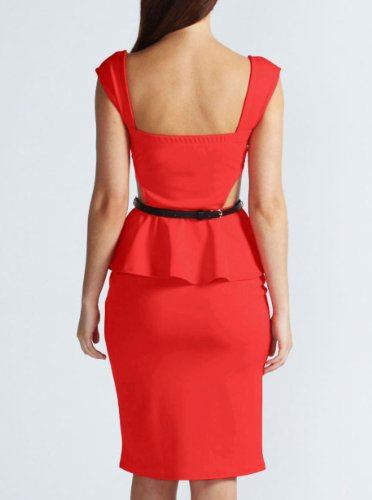 PinkyeeDamen  SchößchenKleid Mehrfarbig 113640-Pattern L:UK14-16 Rot - 172754-Red