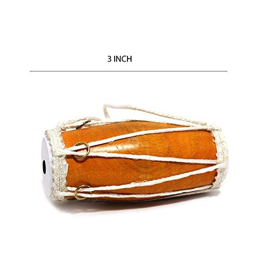 Handgefertigt aus Premium Traditionelle indische klassischen Miniatur Dholak (7,6cm) Styling Multi gelegentlichen Geschenk
