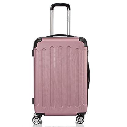 BEIBYE-Hartschalen-Koffer-Trolley-Rollkoffer-Reisekoffer-Handgepck-4-Rollen-M-L-XL-Set