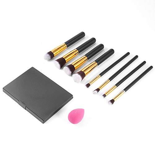 Pudincoco Palette Correcteur 15 couleurs + Kit pinceau maquillage 8 PCS + Éponge Pâte feuilletée Marque Palette Contour Soins du visage Kit de maquillage (multicolore)
