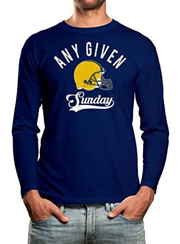Any Given Sunday Packers Football Premium T-Shirt Longsleeve Herren Herrenshirt, Größe:XL, Farbe:blau (Royalblau)