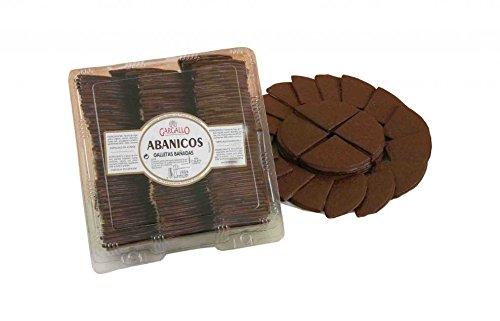Abanicos bañados en chocolate