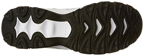 Skechers Sport Men's Afterburn Strike Memory Foam Velcro Sneaker, White/Navy, 13 4E US Blanc / bleu marine