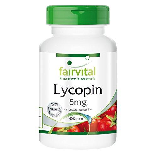 Licopeno 5mg - VEGANO - Altamente dosificado - 90 cápsulas - a partir de extracto de...