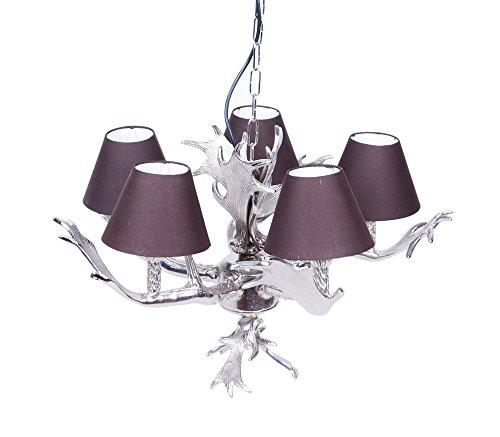 Voss Design Kronleuchter Geweih 57cm Violett Lila Geweihlampe AST Lampe  Deckenleuchte