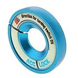 F Fityle Auto Styling Zündschloss Dekoration Aufkleber Metall Zündschlüssel Ring Schlüssellochabdeckung - Blau