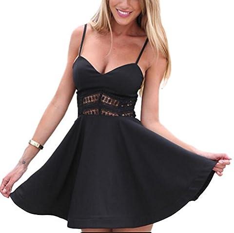 SunIfSnow - Robe de chambre - Moulante - Uni - Sans Manche - Femme - noir - S