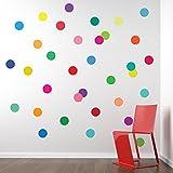 36 Confetti Rainbow Colors Polka Dots Wa...