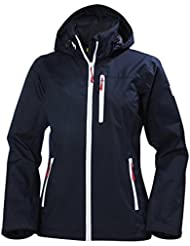 2017 Helly Hansen Ladies Crew Hooded Jacket Navy 33899 Size - - Extra Large
