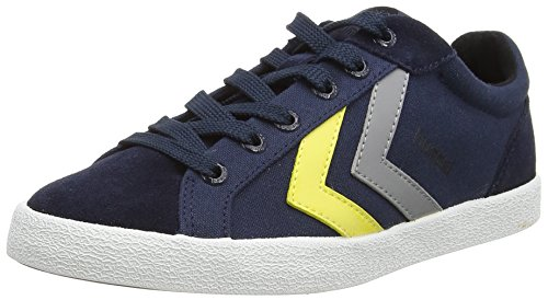 Hummel DEUCE COURT SUMMER, Sneakers basses mixte adulte Bleu - Blau (Total Eclipse 7364)