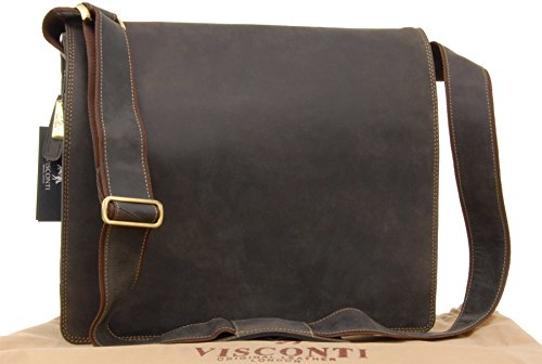 Borsa Messenger Visconti XL A4 Plus Notebook/ipad - Hunter -16054 - Olio Marrone