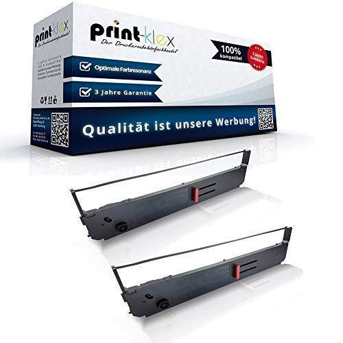 2x Kompatible Schriftbänder für OKI ML 393 OKI Pacemark 09002311 ML 393 Nylonband Schwarz 3410 Office Print Serie - Pacemark 3410 Farbband, Schwarz
