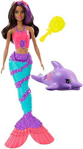 Barbie-ggg59 dreamtopia bambola sirena con accessori, giocattolo per bambini 3+ anni, multicolore, ggg59