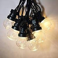oob Outdoor Globe String Festoon Lights Mains Powered G50 Bulbs 15M,Warm White for Garden Patio,C