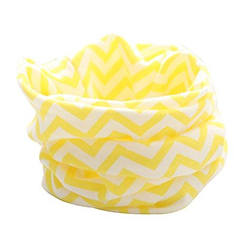 Tangbasi® strisce bambino ragazze dei loop sciarpa scaldacollo, scialle e bambini o anello sciarpa al collo giallo yellow taglia unica