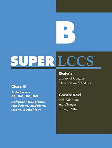 SuperLCCs 2017: Class B, Subclasses BL, BM, BP, BQ: Religion, General, Hinduism, Judaism, Islam, Buddhism