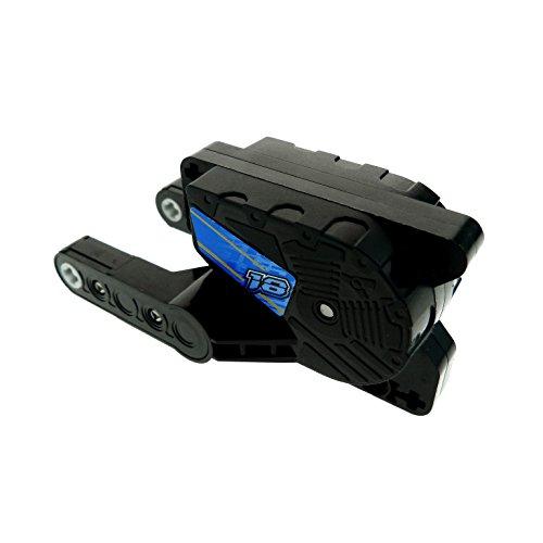 Bausteine gebraucht 1 x Lego Technic Rückzieh Motor 8 schwarz 10x5x4 Aufziehmotor Motorrad Pull Back mit Aufkleber Nr 18 blau gelb Set 8370 motor8pb03 (Pull Back Lego Motor)
