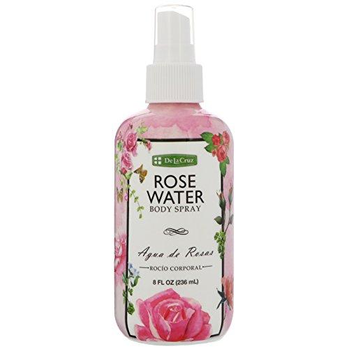 Rose Water Body Splash - Agua de Rosas 8 Fl Oz by De La Cruz