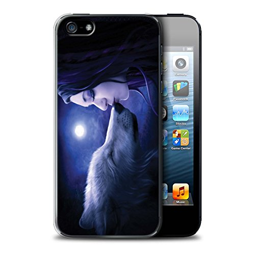 Officiel Elena Dudina Coque / Etui pour Apple iPhone SE / Bain Caché Design / Un avec la Nature Collection Baiser de Lune
