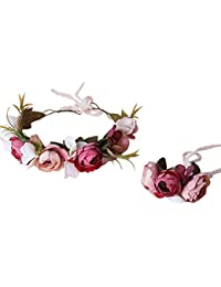 dressfan Diademas Multicolor Flor Artificial para Mujer Tocado para la Novia Dama de Honor Niñas con