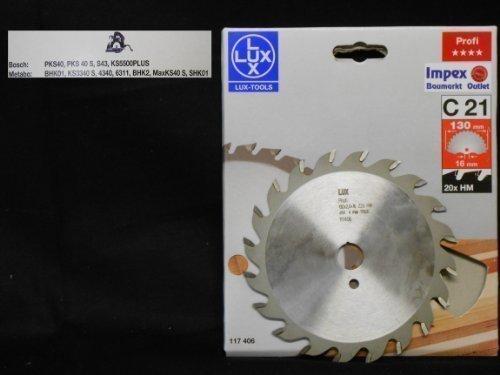OBI LUX 117406 C21 Profi HM-Kreissägeblatt 130 x 16 mm 20 Z