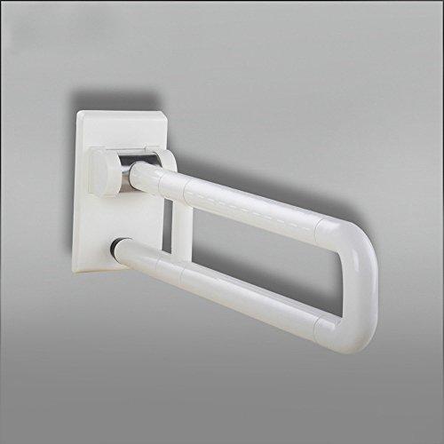 Mdrw-bathroom Main courante WC Accoudoir antimicrobien en nylon Tube en acier inoxydable Main courante Plaqué zinc Toilettes WC de salle de bain Accoudoir. Blanc
