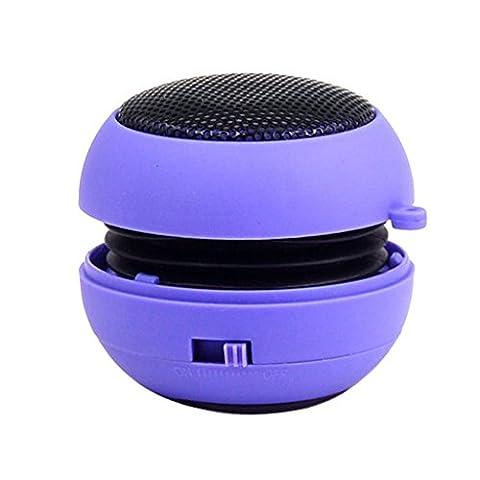Mini-Burger Netto-Stereo-USB-PC Gewidmet Subwoofer Wiederaufladbare Lautsprecher - Lila,