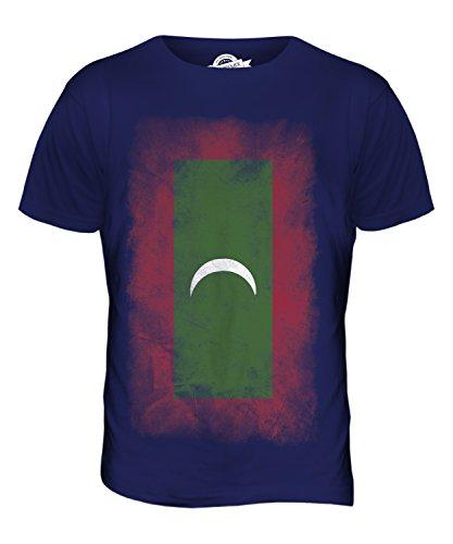 CandyMix Malediven Verblichen Flagge Herren T Shirt Navy Blau