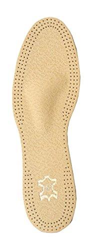FabaCare Corbby Orto Taurus Premium Schuheinlagen Leder orthopädisch, schmal, Aktivkohle, atmungsaktiv, T-Form Pelotte, Einlegesohle für bequemes Gehen und Laufen, 1 Paar, EU 35 - 46 (Leder Taurus)