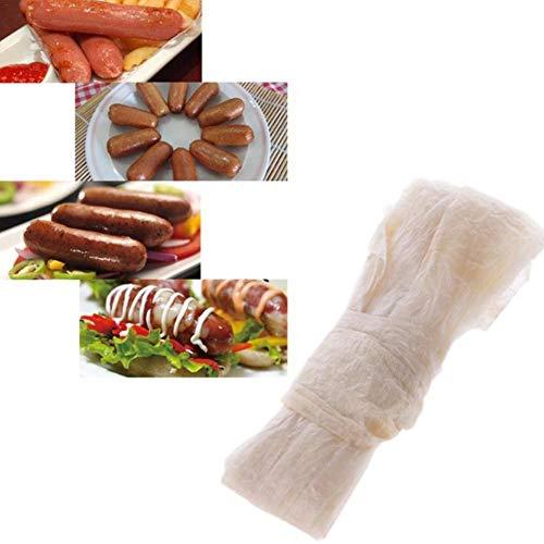mooderff Kollagenhülle Kunstdarm, 10 Stücke Wursthülle Trockene Feine Schafhülle 28/30 Wurst Mantel Hot Dog Hülle 2,5 M / 8,2 Ft