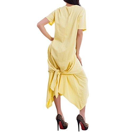 Toocool - Robe - Colonne - Femme Jaune