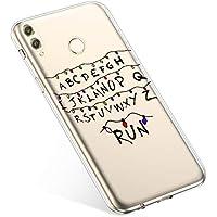 Uposao Handyhülle Huawei Honor Play Hülle Transparent Silikon Ultra Dünn Schutzhülle Durchsichtig Handyhülle Kristall Weiche Silikon TPU Handytasche Rückschale,Weihnachten Lichter