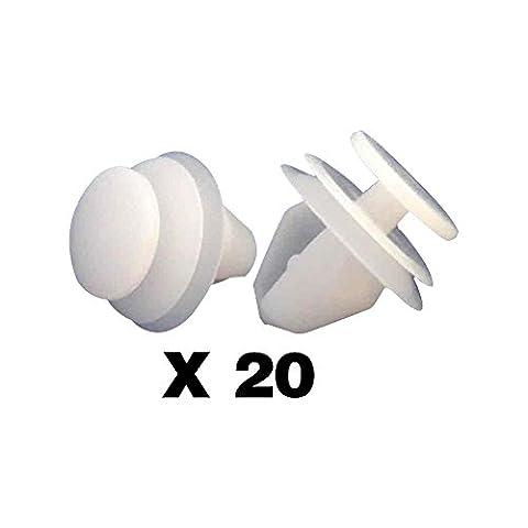 tuqiang® 20x Clips/Plastic Screw Zierleisten und Haarbänder–Peugeot 1007, 206, 207, 306, 307, 308, 406, 407, 607and 807–6991S6/6991.S6–Panneaux de Türen/Füllungen