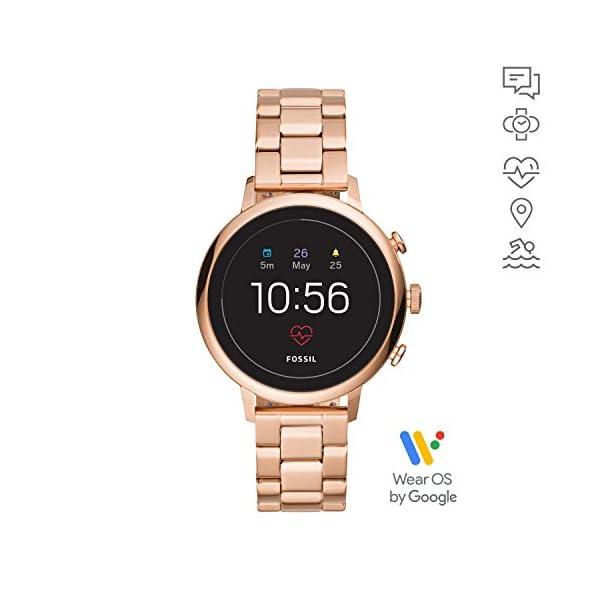 Fossil Connected Smartwatch Gen 4 para Mujer con tecnología Wear OS de Google, frecuencia cardíaca, GPS, NFC y… 2