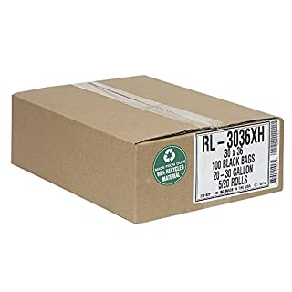 Aluf Plastics RL-3036XH T-Tough Roll pack Low Density Repro Blend Star Seal Coreless Rolls Bag, 20-30 Gallon Capacity, 36