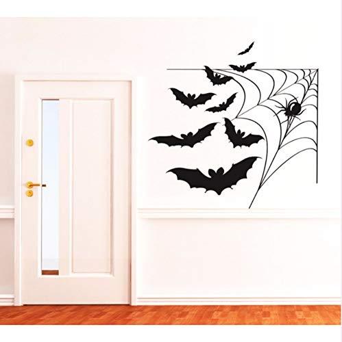 cmdyz Cobweb mit fledermäusen Coole vinyl tapete wasserdichte wandbild glücklich Halloween home room special decor Kunst wandaufkleber 57 * 57 cm