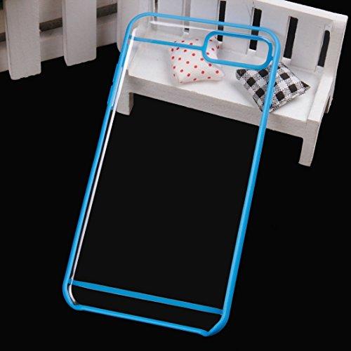IPhone 7 Plus 2 in 1 Transparente TPU Schutzhülle DEXING ( Color : Blue ) Blue