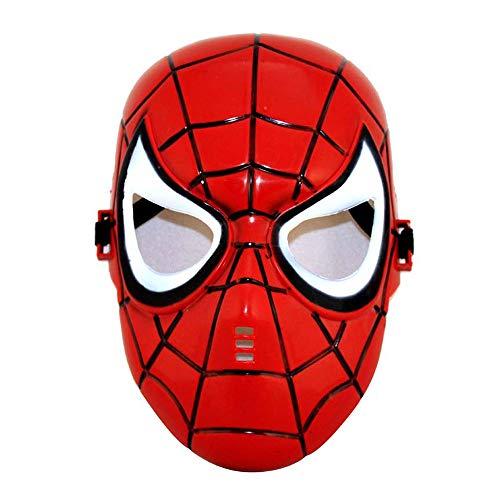 YaPin Halloween Kinder Maske Maskerade Maske Anime Cartoon Maske Glowing Spider Man Maske (Size : Ordinary Does not Shine)