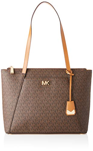 2b7cdec9f0b66 Michael Kors Womens Jet Set Item Tote Brown (Brn Acorn)