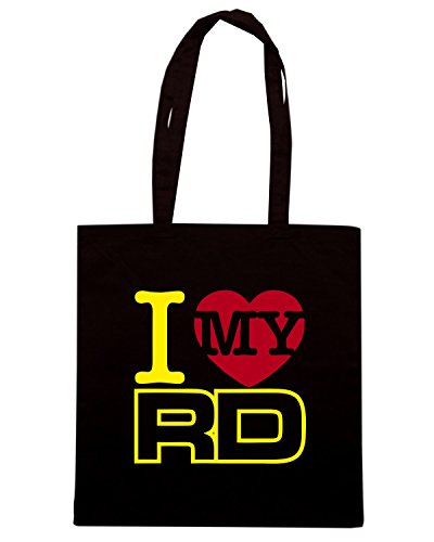T-Shirtshock - Borsa Shopping TB0146 I LOVE My RD Classique Stroke RD RD Motard Nero