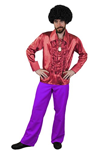 Dress Kostüm Fancy Stardust Ziggy (DISCO DANCE NIGHT FEVER KOSTÜM FÜR DIE PERFEKTE KULT ODER HITPARADEN VERKLEIDUNG DER 70iger ODER 80iger JAHRE UND FÜR DIE PERFEKTE KOSTÜMIERUNG AN FASCHING ODER KARNEVAL= VON ILOVEFANCYDRESS®= EIN MUß)